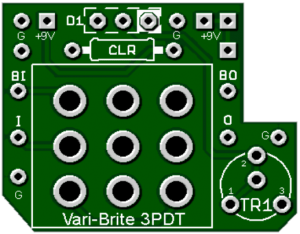 3PDT Vari-Brite™ w/ LED Dimmer
