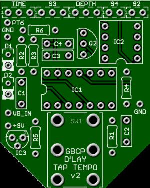 D'Lay Tap Tempo PCB