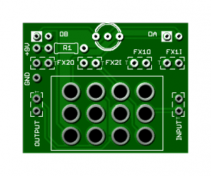 Easy Order Switching Board – 4PDT Foot switch w/On-board LED