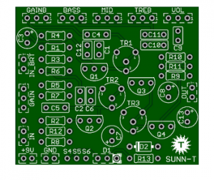 SUNN T – 1st and Best Sunn Model T PCB
