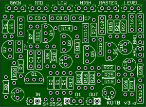 KOTB – King of the Brits – #1 Plexi Amp Tone PCB