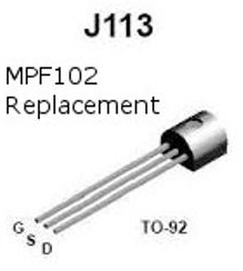 JFET J113 – Replaces MPF102 – Genuine Fairchild