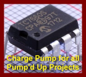 Charge Pump IC for all Pump'd Up series boards 7660S Brand