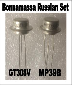 * Bonamassa Exact Matched Russian PNP Transistors (Q1-GT308V) (Q2-MP39B)