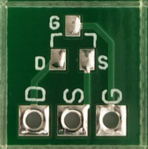SOT23 Through Hole Adapter for SMD (Double Sided)