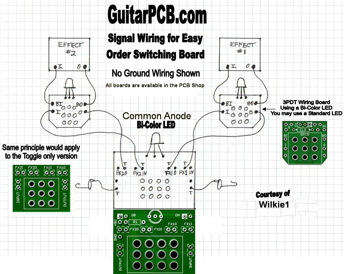 Wiring Examples Standard Series Combo Buff N Blend Easy Order 4pdt Diagram Dpdt Board Ideas